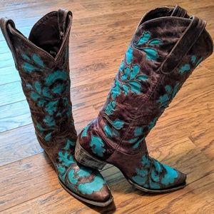 Lane cowboy western boots